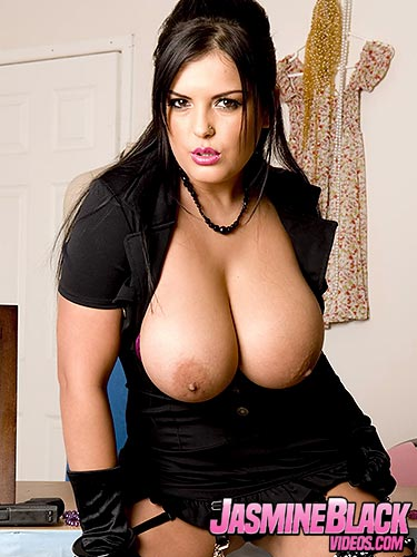 Jasmine Black shows off her massive breasts for Jamie Barry